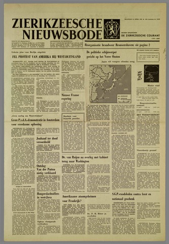 Zierikzeesche Nieuwsbode 1962-04-16