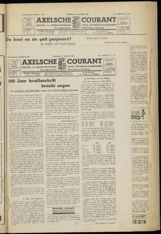 Axelsche Courant 1952-01-09