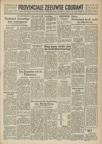 Provinciale Zeeuwse Courant 1948-02-20