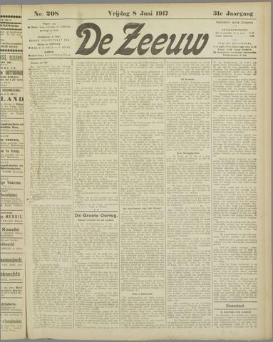 De Zeeuw. Christelijk-historisch nieuwsblad voor Zeeland 1917-06-08