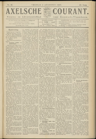 Axelsche Courant 1927-08-05
