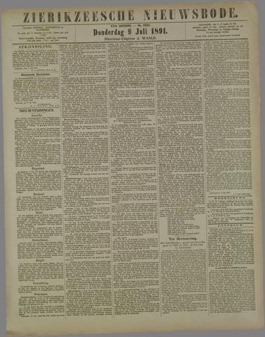 Zierikzeesche Nieuwsbode 1891-07-09