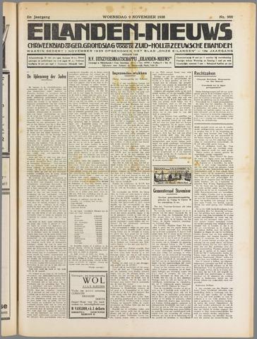 Eilanden-nieuws. Christelijk streekblad op gereformeerde grondslag 1938-11-09