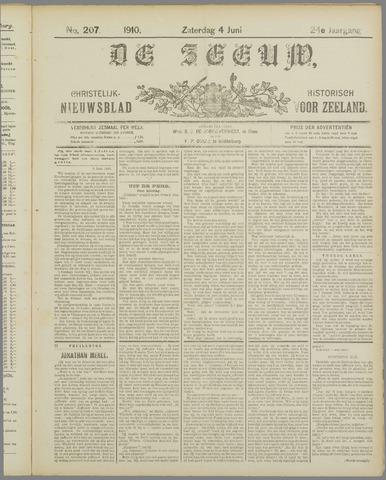De Zeeuw. Christelijk-historisch nieuwsblad voor Zeeland 1910-06-04