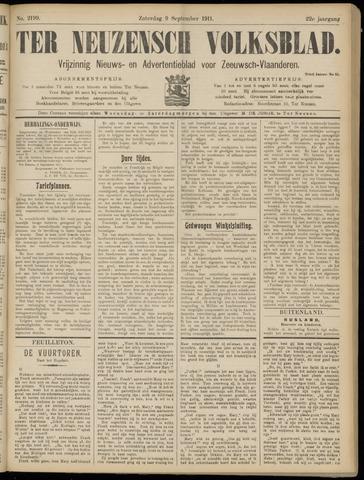 Ter Neuzensch Volksblad. Vrijzinnig nieuws- en advertentieblad voor Zeeuwsch- Vlaanderen / Zeeuwsch Nieuwsblad. Nieuws- en advertentieblad voor Zeeland 1911-09-09