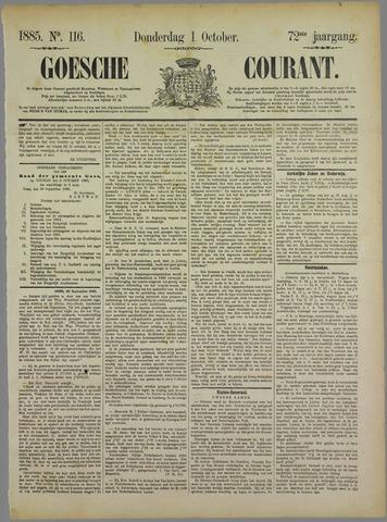 Goessche Courant 1885-10-01