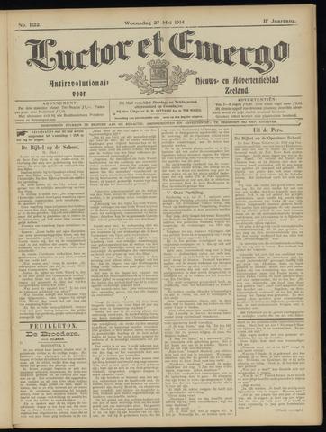Luctor et Emergo. Antirevolutionair nieuws- en advertentieblad voor Zeeland / Zeeuwsch-Vlaanderen. Orgaan ter verspreiding van de christelijke beginselen in Zeeuwsch-Vlaanderen 1914-05-27