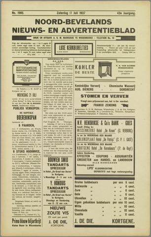 Noord-Bevelands Nieuws- en advertentieblad 1937-07-17