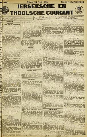 Ierseksche en Thoolsche Courant 1925-04-24