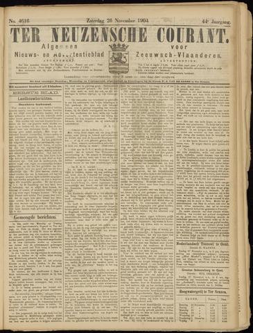 Ter Neuzensche Courant. Algemeen Nieuws- en Advertentieblad voor Zeeuwsch-Vlaanderen / Neuzensche Courant ... (idem) / (Algemeen) nieuws en advertentieblad voor Zeeuwsch-Vlaanderen 1904-11-26