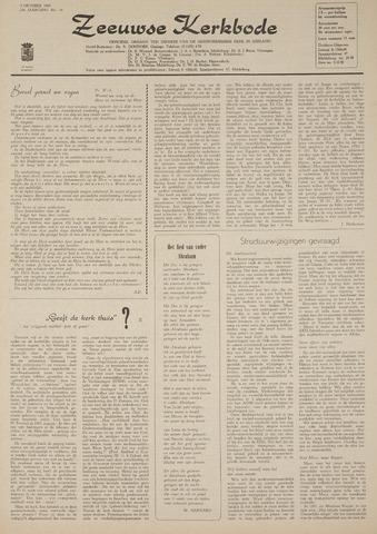 Zeeuwsche kerkbode, weekblad gewijd aan de belangen der gereformeerde kerken/ Zeeuwsch kerkblad 1969-10-09