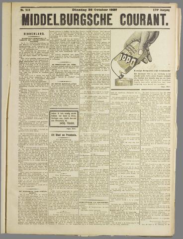 Middelburgsche Courant 1927-10-25