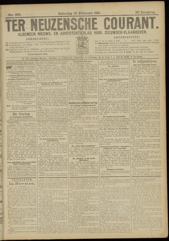 Ter Neuzensche Courant. Algemeen Nieuws- en Advertentieblad voor Zeeuwsch-Vlaanderen / Neuzensche Courant ... (idem) / (Algemeen) nieuws en advertentieblad voor Zeeuwsch-Vlaanderen 1915-02-27