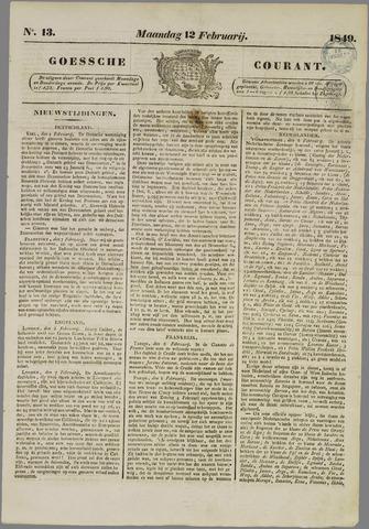 Goessche Courant 1849-02-12