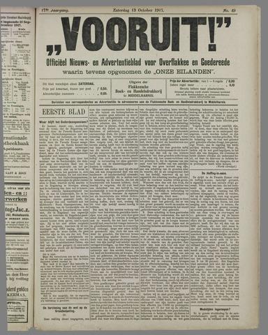 """""""Vooruit!""""Officieel Nieuws- en Advertentieblad voor Overflakkee en Goedereede 1917-10-13"""