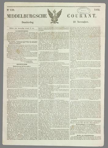 Middelburgsche Courant 1862-11-20