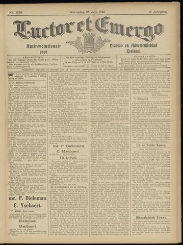 Luctor et Emergo. Antirevolutionair nieuws- en advertentieblad voor Zeeland / Zeeuwsch-Vlaanderen. Orgaan ter verspreiding van de christelijke beginselen in Zeeuwsch-Vlaanderen 1913-06-25