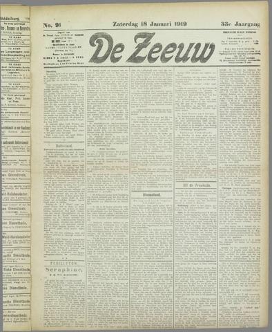 De Zeeuw. Christelijk-historisch nieuwsblad voor Zeeland 1919-01-18