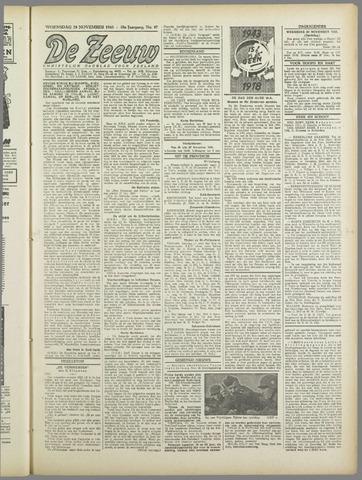 De Zeeuw. Christelijk-historisch nieuwsblad voor Zeeland 1943-11-24