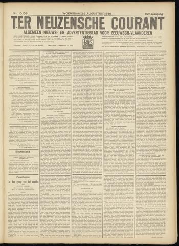 Ter Neuzensche Courant. Algemeen Nieuws- en Advertentieblad voor Zeeuwsch-Vlaanderen / Neuzensche Courant ... (idem) / (Algemeen) nieuws en advertentieblad voor Zeeuwsch-Vlaanderen 1940-08-28