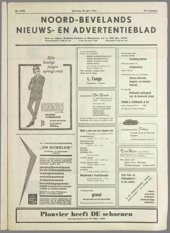 Noord-Bevelands Nieuws- en advertentieblad 1964-04-18