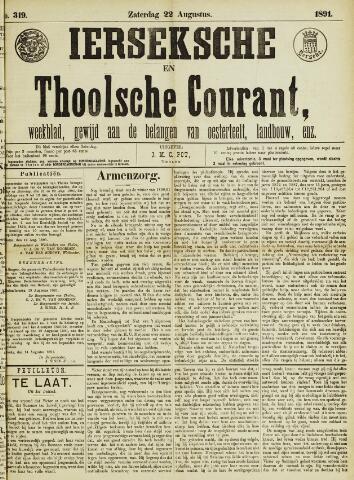 Ierseksche en Thoolsche Courant 1891-08-22