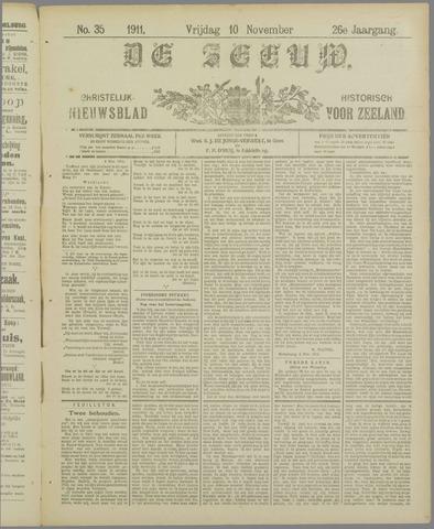 De Zeeuw. Christelijk-historisch nieuwsblad voor Zeeland 1911-11-10