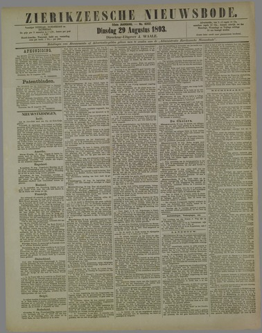 Zierikzeesche Nieuwsbode 1893-08-29