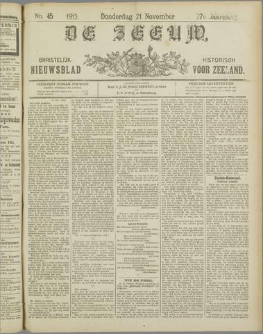 De Zeeuw. Christelijk-historisch nieuwsblad voor Zeeland 1912-11-21