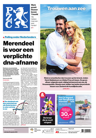 Provinciale Zeeuwse Courant 2018-08-25