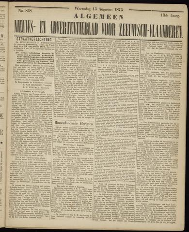 Ter Neuzensche Courant. Algemeen Nieuws- en Advertentieblad voor Zeeuwsch-Vlaanderen / Neuzensche Courant ... (idem) / (Algemeen) nieuws en advertentieblad voor Zeeuwsch-Vlaanderen 1873-08-13