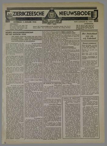 Zierikzeesche Nieuwsbode 1942-01-03