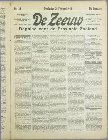 De Zeeuw. Christelijk-historisch nieuwsblad voor Zeeland 1930-02-20