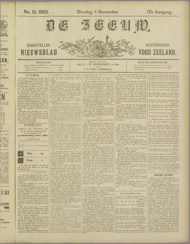 De Zeeuw. Christelijk-historisch nieuwsblad voor Zeeland 1902-11-04