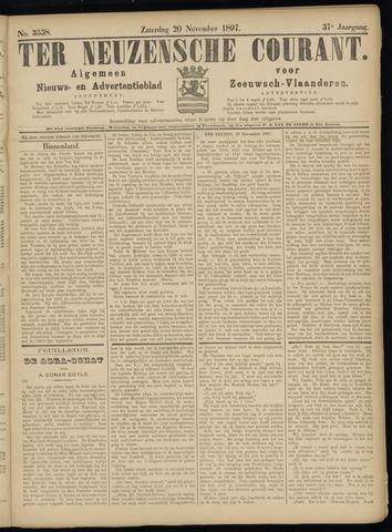Ter Neuzensche Courant. Algemeen Nieuws- en Advertentieblad voor Zeeuwsch-Vlaanderen / Neuzensche Courant ... (idem) / (Algemeen) nieuws en advertentieblad voor Zeeuwsch-Vlaanderen 1897-11-20