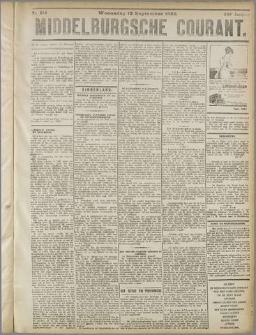 Middelburgsche Courant 1922-09-13