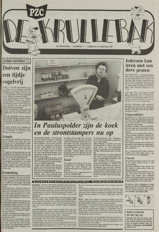 Provinciale Zeeuwse Courant katern Krullenbak (1981-1999) 1987-01-13