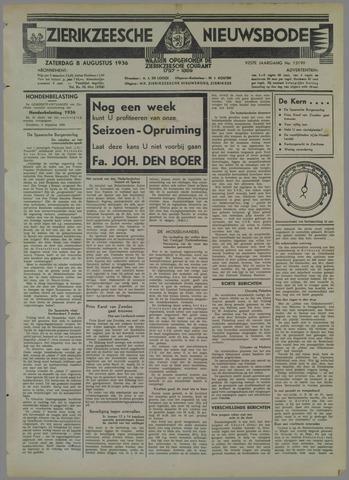 Zierikzeesche Nieuwsbode 1936-08-08