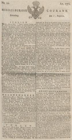 Middelburgsche Courant 1771-08-17
