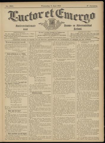 Luctor et Emergo. Antirevolutionair nieuws- en advertentieblad voor Zeeland / Zeeuwsch-Vlaanderen. Orgaan ter verspreiding van de christelijke beginselen in Zeeuwsch-Vlaanderen 1913-06-11
