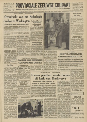 Provinciale Zeeuwse Courant 1954-05-06