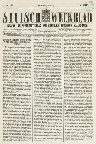 Sluisch Weekblad. Nieuws- en advertentieblad voor Westelijk Zeeuwsch-Vlaanderen 1866-11-30