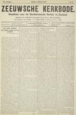 Zeeuwsche kerkbode, weekblad gewijd aan de belangen der gereformeerde kerken/ Zeeuwsch kerkblad 1927-02-04