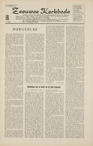 Zeeuwsche kerkbode, weekblad gewijd aan de belangen der gereformeerde kerken/ Zeeuwsch kerkblad 1964-11-20