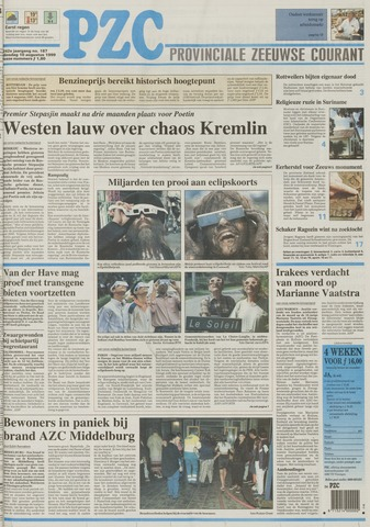 Provinciale Zeeuwse Courant 1999-08-10