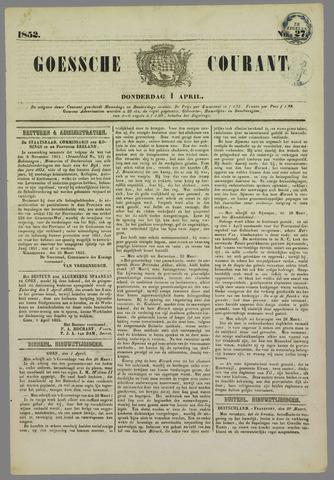 Goessche Courant 1852-04-01