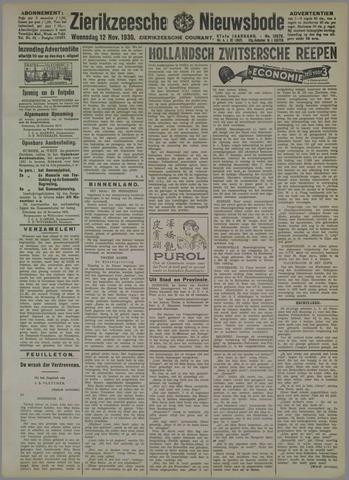 Zierikzeesche Nieuwsbode 1930-11-12