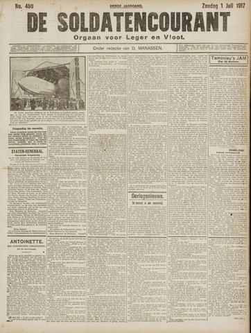 De Soldatencourant. Orgaan voor Leger en Vloot 1917-07-01