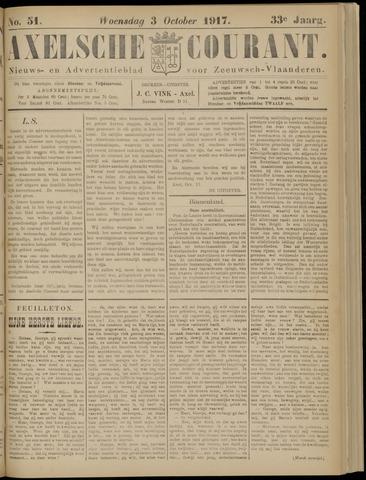 Axelsche Courant 1917-10-03