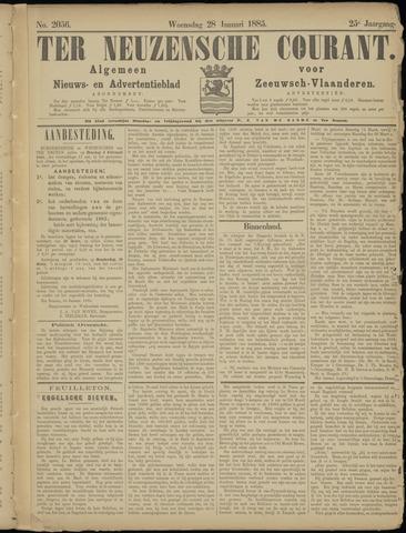 Ter Neuzensche Courant. Algemeen Nieuws- en Advertentieblad voor Zeeuwsch-Vlaanderen / Neuzensche Courant ... (idem) / (Algemeen) nieuws en advertentieblad voor Zeeuwsch-Vlaanderen 1885-01-28
